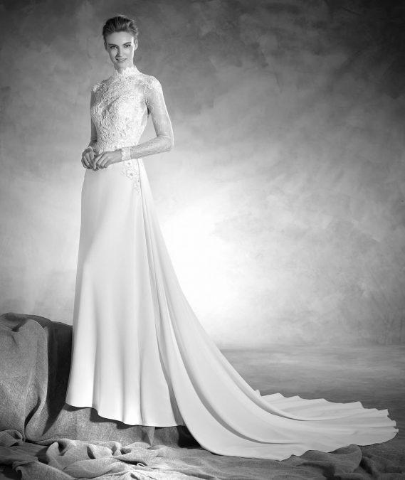 Nacar vestuvinė suknelė