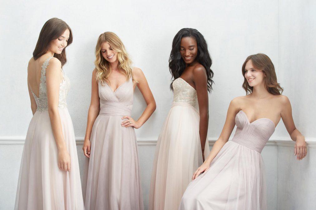 Pamergių suknelės penkios tendencijos stilingai pamergei