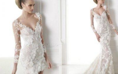 Vestuvinių suknelių tendencija: dviejų dalių suknelės