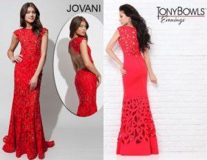 raudonos sukneles