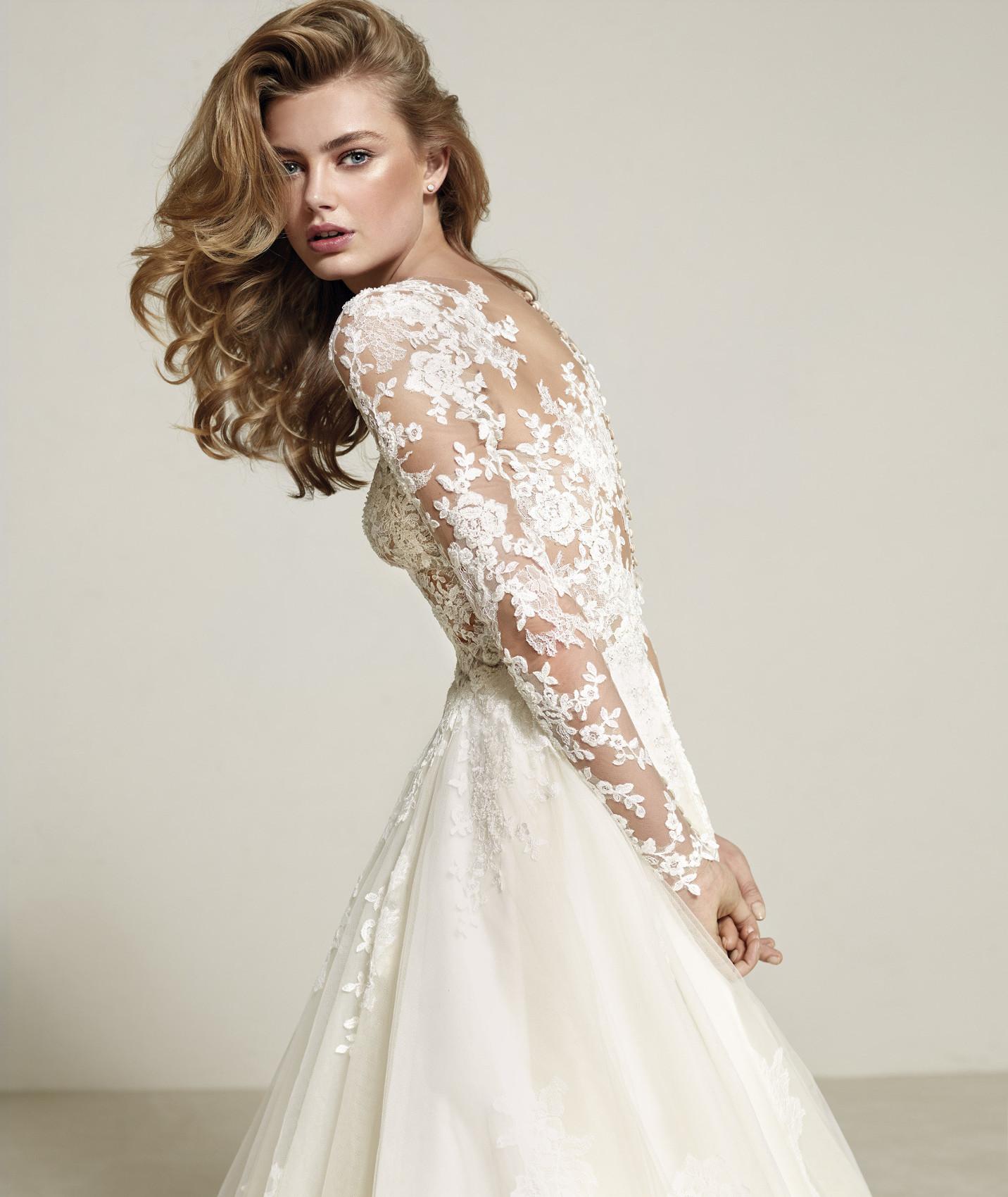 vestuvines sukneles pronovias drizana c