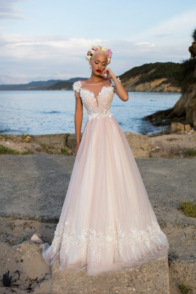 Alluring Eustoma wedding dress