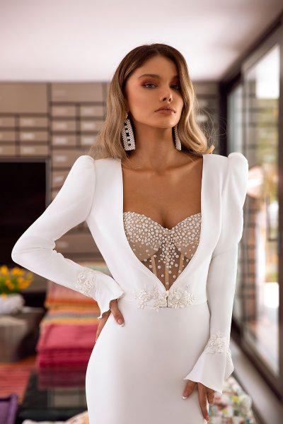 Amber vestuvinė suknelė