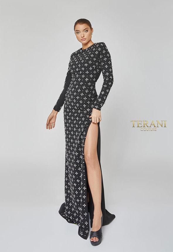 terani-couture-balcksilver-vakarine-suknele-progine