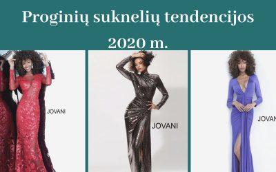Proginių suknelių tendencijos 2020 m.