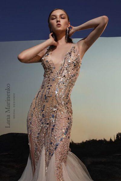 Golden vestuvinė suknelė