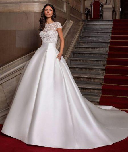Close wedding dress