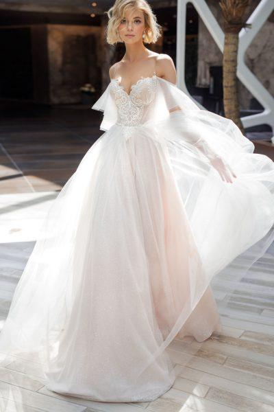 Solar vestuvinė suknelė